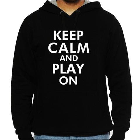 Keep calm and Play on Man Hooded Sweatshirt