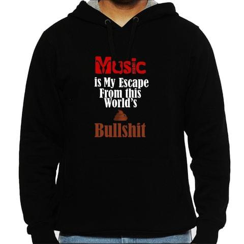 Music is my Escape Man Hooded Sweatshirt