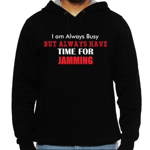 Always available for Jamming Man Hooded Sweatshirt