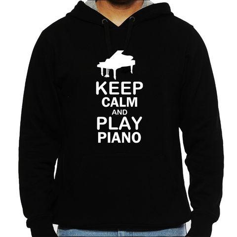 Play Piano Man Hooded Sweatshirt