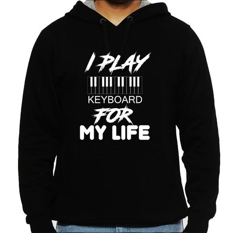 Keyboard for Life Man Hooded Sweatshirt