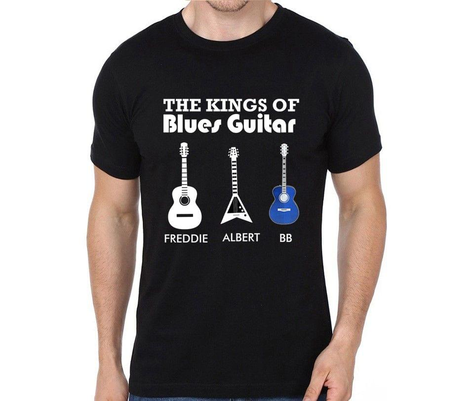King of Blues Guitars :- Freddie , Albert , BB T-shirt for Man, Woman , Kids - 8BPA7V9P28YN