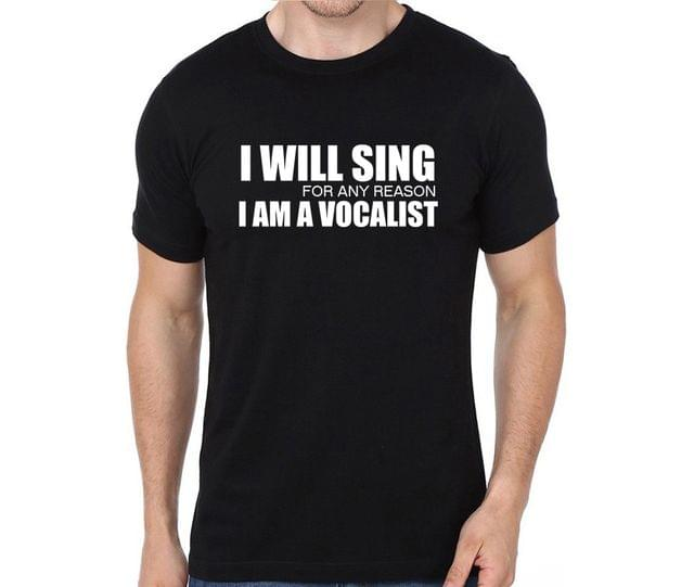 Vocalist , Just ask me to Sing T-shirt for Man, Woman , Kids - BH2YKTGEBA51