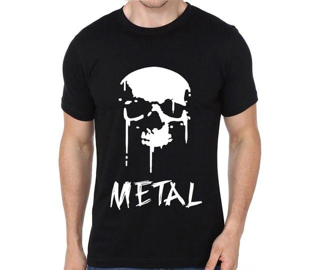 SKULL BLOOD SPLATTER METAL   T-shirt for Man, Woman , Kids - KKTZY5TFLRBU46T