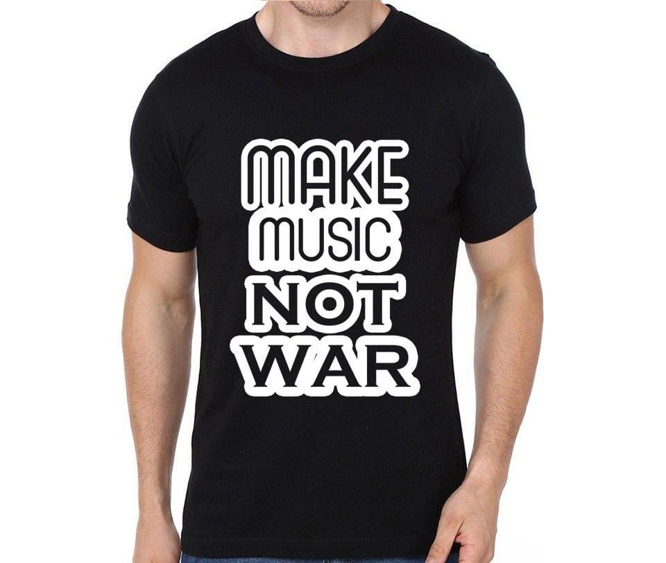 Make music Not war T-shirt for Man, Woman , Kids - LGMHEVPBQ61F