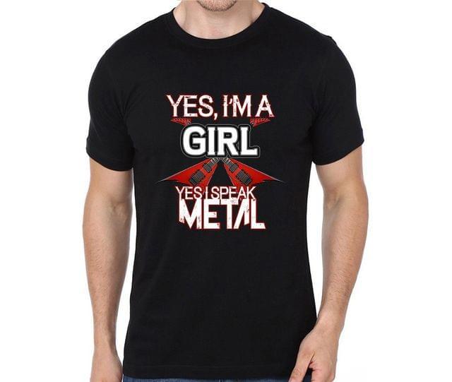 I speak Metal  T-shirt for Man, Woman , Kids - XCALV86BQDLL59W