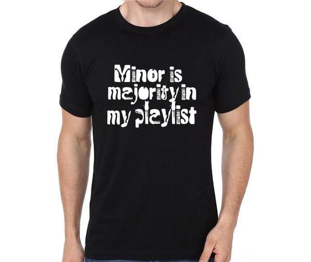 Minor is Majority in my Playlist T-shirt for Man, Woman , Kids - ZQ9DWXN35L3P
