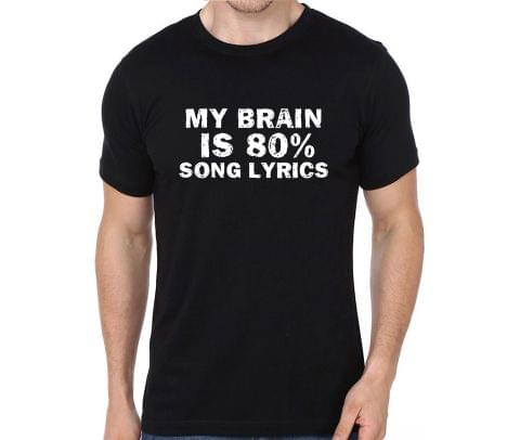 Singer - My Brain is 80% Song lyrics - Music Producers T-shirt for Man, Woman , Kids