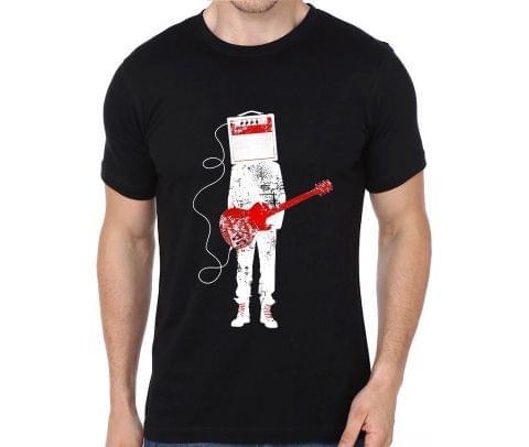 Guitar Amplifier Music Rocker Hard Rock Heavy Metal Cool Musician  T-shirt for Man, Woman , Kids