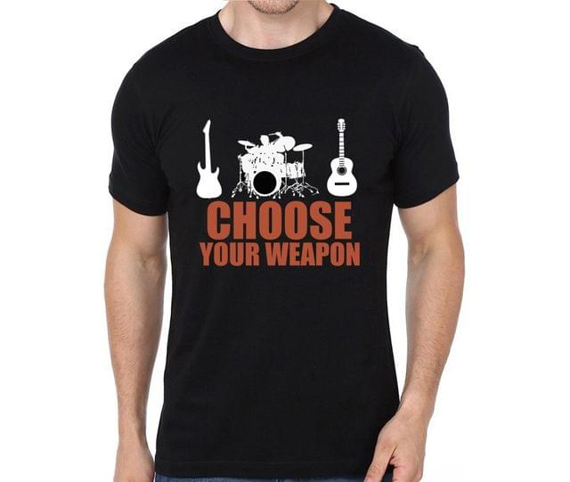 Choose your Weapon Drum Base Guitar T-shirt for Man, Woman , Kids - 1VC6NUVFF5TY
