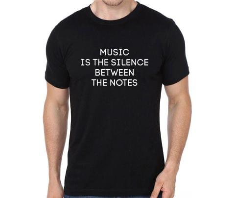 Music is silence between two notes rock metal band music tshirts for Men Women Kids