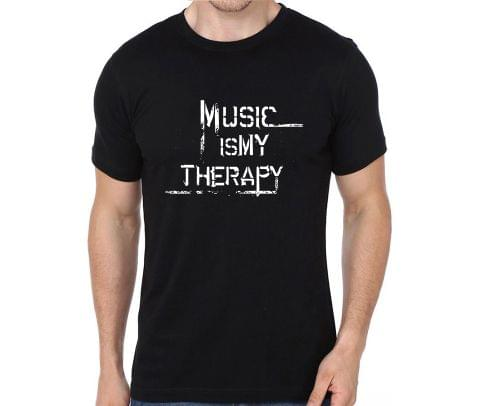 Music is my Therapy rock metal band music tshirts for Men Women Kids