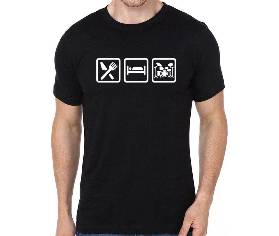 Eat Sleep Drumming Repeat rock metal band music tshirts for Men Women Kids - M8859T3JXW23GMJU
