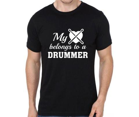 My heart Belongs to a Drummer rock metal band music tshirts for Men Women Kids - 92CS9DR8PBB2HH8F