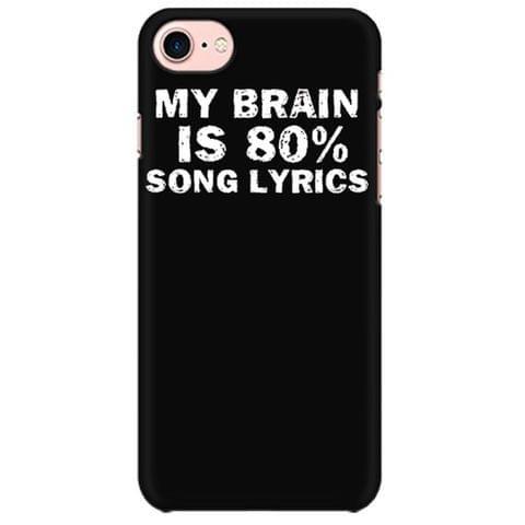 Singer - My Brain is 80% Song lyrics - Music Producers Mobile back hard case cover - UZ9HCQE4HKU9