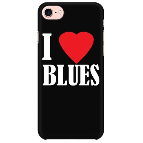 I love Blues Mobile back hard case cover - FLTUS3YDJPQX