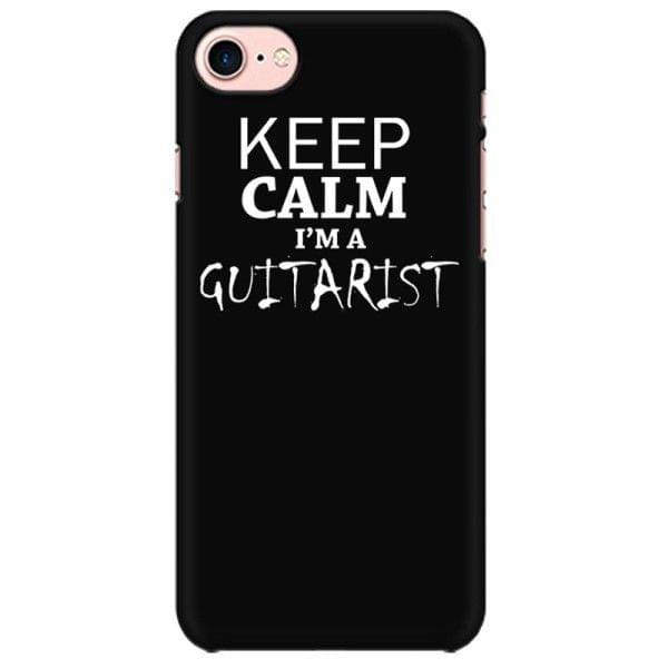 Keep calm I am Guitarist  Mobile back hard case cover - 7BQRU543FH43