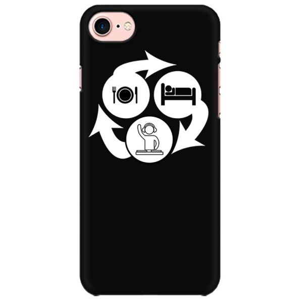 Eat Sleep DJ repeat Mobile back hard case cover - 7DW7QFUX4XVH