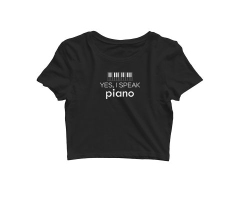 Speak Piano   Croptop for music lovers