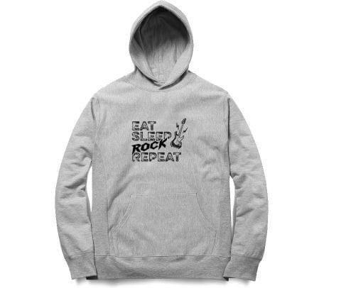 Vintage Eat Sleep Rock Repeat New Design   Unisex Hoodie Sweatshirt for Men and Women