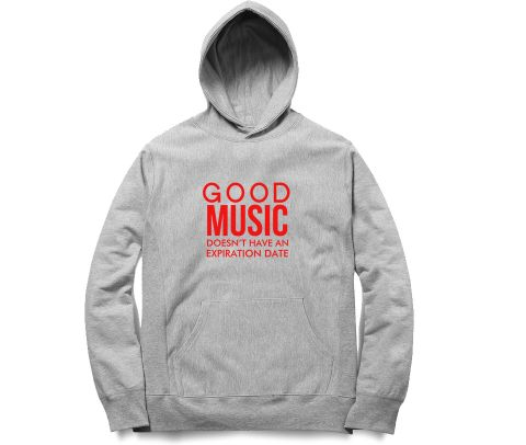 Good Music will be Forever   Unisex Hoodie Sweatshirt for Men and Women