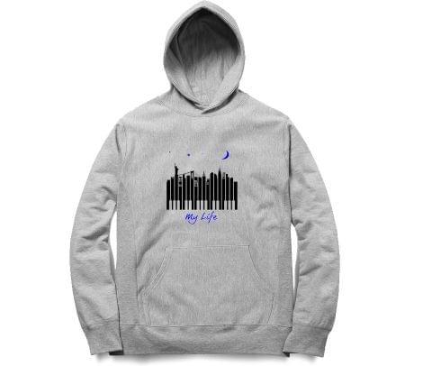 City of Piano Tshirt   Unisex Hoodie Sweatshirt for Men and Women