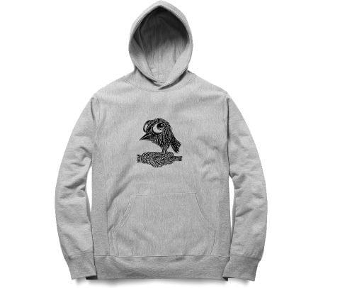 Tied Satan Bird   Unisex Hoodie Sweatshirt for Men and Women