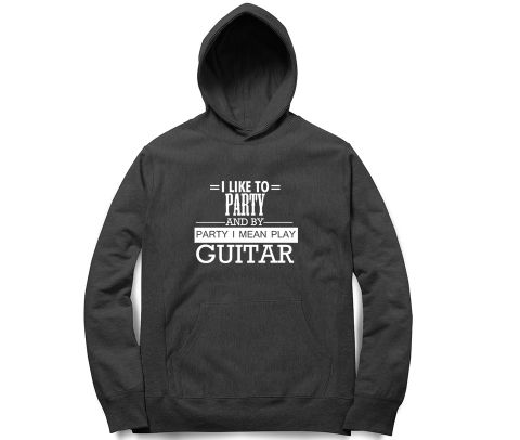 Party by Guitar   Unisex Hoodie Sweatshirt for Men and Women
