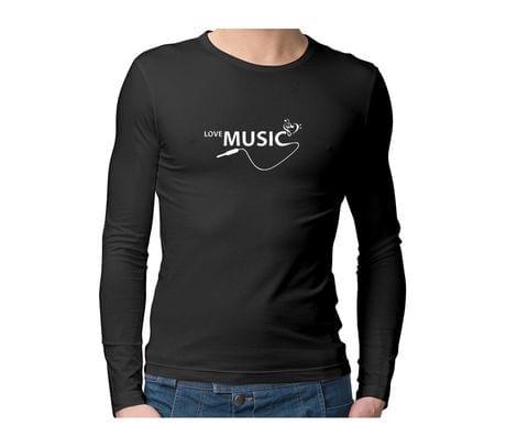 Love Music  Unisex Full Sleeves Tshirt for men women