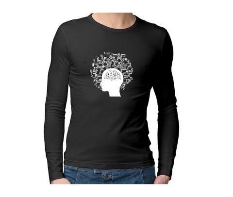Music in my Head  Unisex Full Sleeves Tshirt for men women