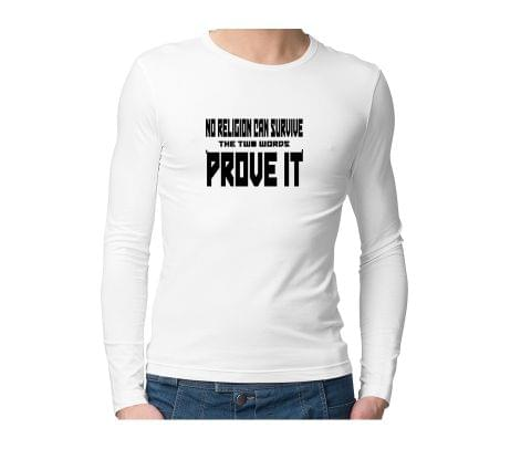 Religion cant Survive  Unisex Full Sleeves Tshirt for men women
