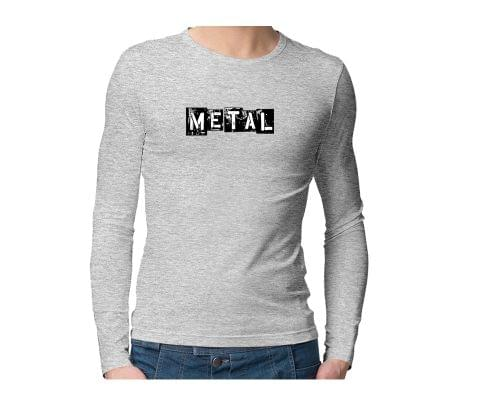 Metalhead  Unisex Full Sleeves Tshirt for men women