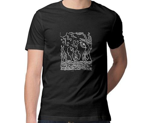Ocean of Thoughts in Storm Trip psy Trippy Psychedelic  Men Round Neck Tshirt