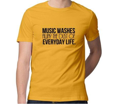 Everyday Music  Men Round Neck Tshirt