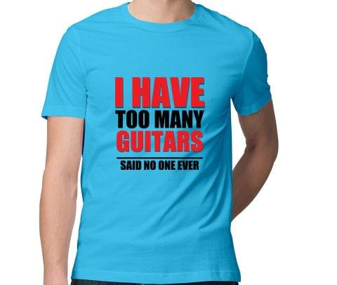 I have to many Guitars : Myth  Men Round Neck Tshirt