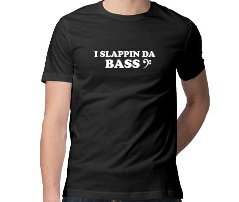 Slapping the Bass   Bassist Men Round Neck Tshirt