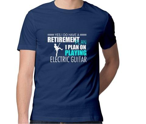 Guitarist Retirement Plan  Men Round Neck Tshirt