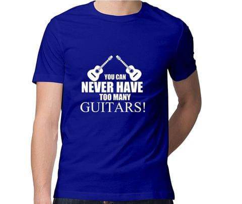 Too many Guitars  Men Round Neck Tshirt