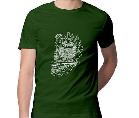 Third Eye psy Trippy Psychedelic  Men Round Neck Tshirt