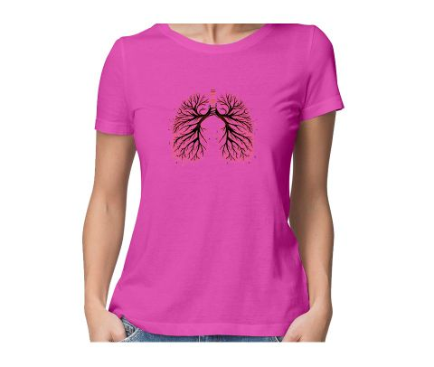 Music in my Viens  round neck half sleeve tshirt for women