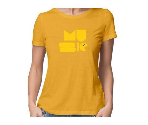 Musicz  round neck half sleeve tshirt for women