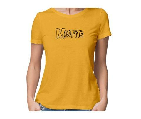Misfits  round neck half sleeve tshirt for women