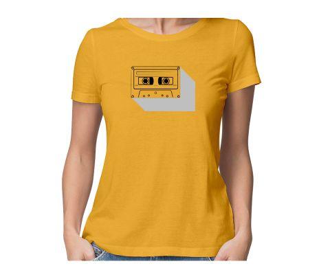 Real Retro  round neck half sleeve tshirt for women