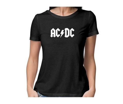 ACDC  round neck half sleeve tshirt for women