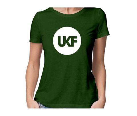 UKF  round neck half sleeve tshirt for women