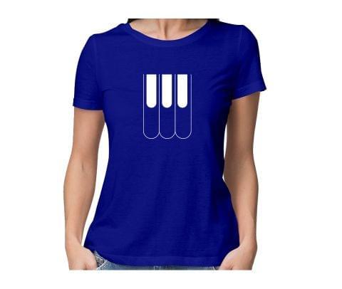Pinaist   Keyboardist Love round neck half sleeve tshirt for women