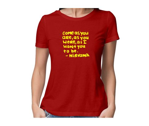 Kurt Cobain Nirvana  round neck half sleeve tshirt for women