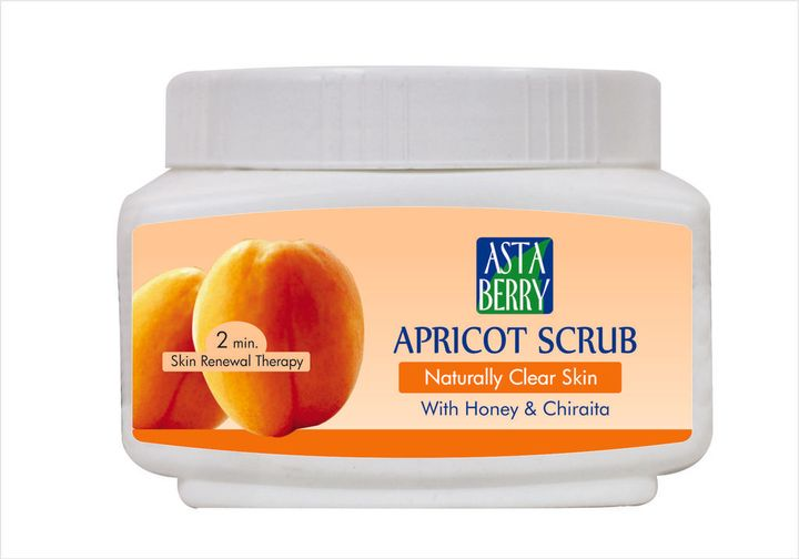 Astaberry Apricot Scrub, 500ml (Pack Of 3)
