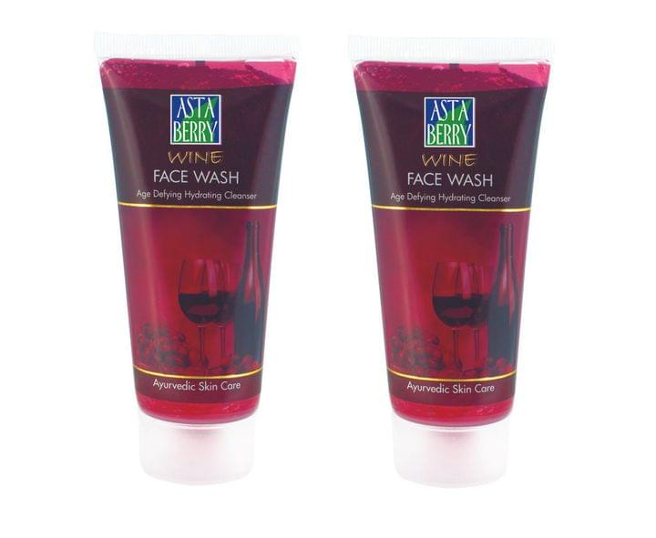 Astaberry Wine Face Wash (Pack Of 4)