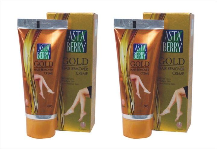 Astaberry Gold Hair Remover Creme (Pack Of 4)